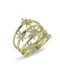 Anne Sisteron | Metallic 14kt Yellow Gold Diamond Fireworks Ring | Lyst