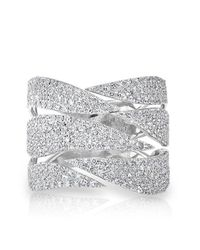 Anne Sisteron   Multicolor 14kt White Gold Diamond Flame Ring   Lyst