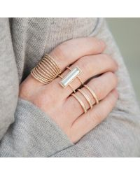 Anne Sisteron - Multicolor 14kt White Gold Aquamarine Diamond Beam Ring - Lyst