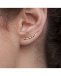 Anne Sisteron Metallic 14kt Rose Gold Diamond Lash Ear Climber