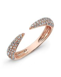 Anne Sisteron | Metallic 14kt Rose Gold Diamond Horn Pinkie Ring | Lyst