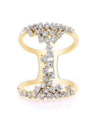 Anne Sisteron | Metallic 14kt Yellow Gold Diamond Lace Ring | Lyst