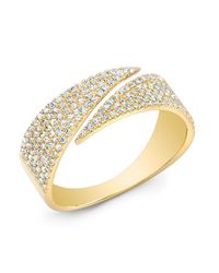 Anne Sisteron | Metallic 14kt Yellow Gold Diamond Full Spike Wrap Ring | Lyst