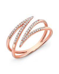 Anne Sisteron | Metallic 14kt Rose Gold Diamond Spike Wrap Ring | Lyst