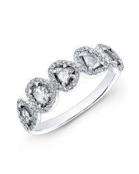 Anne Sisteron | Metallic 14kt White Gold Diamond Slice Princess Ring | Lyst