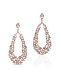 Anne Sisteron | Multicolor 18kt Rose Gold Diamond Rome Wreath Earrings | Lyst