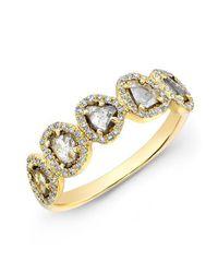 Anne Sisteron | Metallic 14kt Yellow Gold Diamond Slice Princess Ring | Lyst
