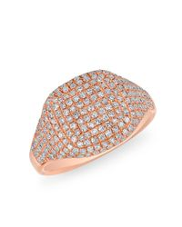 Anne Sisteron | Multicolor 14kt Rose Gold Diamond Cushion Pinkie Ring | Lyst