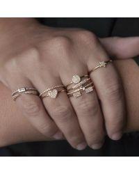 Anne Sisteron Metallic 14kt Yellow Gold Diamond Valentine Heart Ring