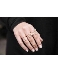Anne Sisteron Metallic 14kt Rose Gold Diamond Bars Chain Ring