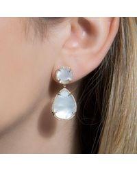 Anne Sisteron Metallic 14kt Yellow Gold Mother Of Pearl Cloud Earrings
