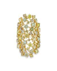 Anne Sisteron | Metallic 14kt Yellow Gold Colored Diamond Stella Ring | Lyst