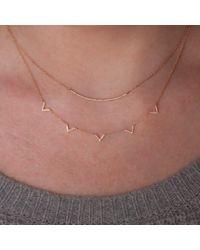 Anne Sisteron Multicolor 14kt Rose Gold Diamond 5 Mini Chevrons Necklace
