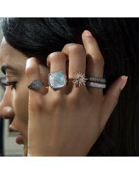 Anne Sisteron - Metallic 14kt Yellow Gold Diamond Sunburst Ring - Lyst