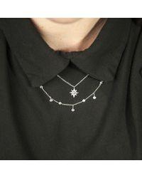 Anne Sisteron Metallic 14kt Rose Gold Diamond Bezel Set Trickle Necklace