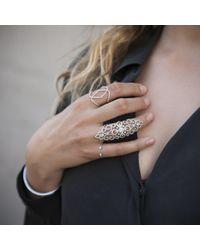 Anne Sisteron - Metallic 14kt Rose Gold Diamond Bourgeois Ring - Lyst