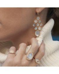 Anne Sisteron Multicolor 14kt Rose Gold White Mother Of Pearl Diamond Chandelier Earrings