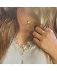 Anne Sisteron Metallic 14kt Yellow Gold Diamond Turquoise Round Disc Ring