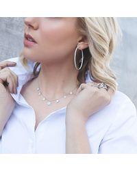 Anne Sisteron - Metallic 14kt White Gold 7 Medium Diamond Disc Necklace - Lyst