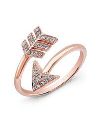 Anne Sisteron - Multicolor 14kt Rose Gold Diamond Wrap Around Arrow Ring - Lyst