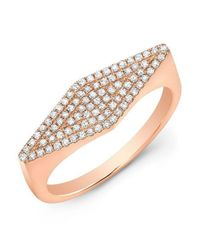 Anne Sisteron - Metallic 14kt Rose Gold Diamond Kite Ring - Lyst