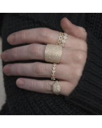 Anne Sisteron Metallic 14kt White Gold Diamond Triangle Totem Ring