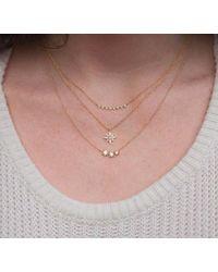 Anne Sisteron Multicolor 14kt White Gold Diamond Triple Starburst Necklace