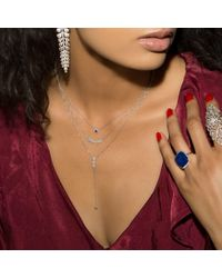 Anne Sisteron Metallic 14kt Rose Gold Diamond Hazel Lariat Necklace