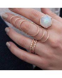 Anne Sisteron Multicolor 14kt Rose Gold Bezel Set Diamond Ring