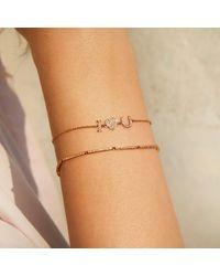 Anne Sisteron Metallic 14kt Yellow Gold Diamond I - Heart - U Bracelet