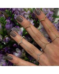 Anne Sisteron Metallic 14kt White Gold Diamond 50 Shades Chain Ring