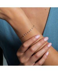 Anne Sisteron Metallic 14kt Rose Gold Diamond Triangle Totem Bracelet