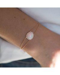 Anne Sisteron Multicolor 14kt Rose Gold Opal Diamond Bracelet