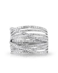 Anne Sisteron | Metallic 14kt White Gold Diamond Wire Ring | Lyst