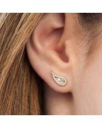 Anne Sisteron - Multicolor 14kt White Gold Baguette Diamond Paisley Stud Earrings - Lyst