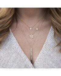 Anne Sisteron Multicolor 14kt White Gold Diamond Double Daisy Flower Necklace