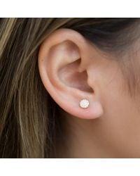 Anne Sisteron Metallic 14kt White Gold Diamond Rounded Mini Disc Stud Earrings