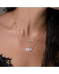 Anne Sisteron Multicolor 14kt Rose Gold Moonstone Diamond Crown Necklace