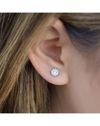 Anne Sisteron Metallic 18kt White Gold Small Diamond Stud Earrings