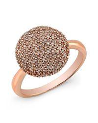 Anne Sisteron Metallic 14kt Rose Gold Diamond Bouton Ring