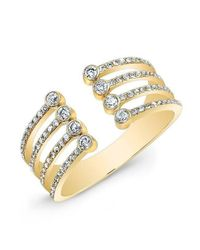 Anne Sisteron - Metallic 14kt Yellow Gold Diamond Electric Ring - Lyst
