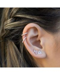 Anne Sisteron - Multicolor 14kt White Gold Diamond Lola Hinged Ear Cuff - Lyst