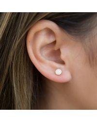 Anne Sisteron Metallic 14kt Rose Gold Diamond Rounded Mini Disc Stud Earrings