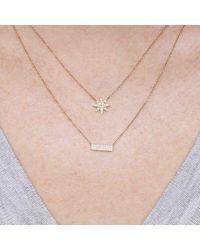 Anne Sisteron Metallic 14kt White Gold Diamond Brick Necklace