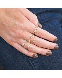 Anne Sisteron - Multicolor 14kt White Gold Diamond Mini Star Ring - Lyst