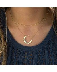 Anne Sisteron Metallic 14kt White Gold Diamond Starlight Moon Necklace