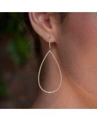 Anne Sisteron Metallic 14kt Rose Gold Diamond Large Open Pear Earrings