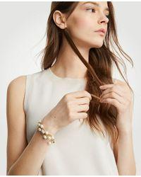 Ann Taylor - White Pearlized Strand Bracelet - Lyst