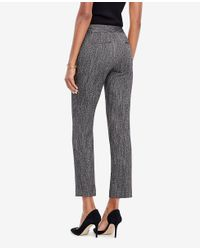 Ann Taylor - Black The Petite Ankle Pant In Herringbone - Kate Fit - Lyst