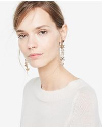 Ann Taylor | Metallic Burnished Statement Earrings | Lyst